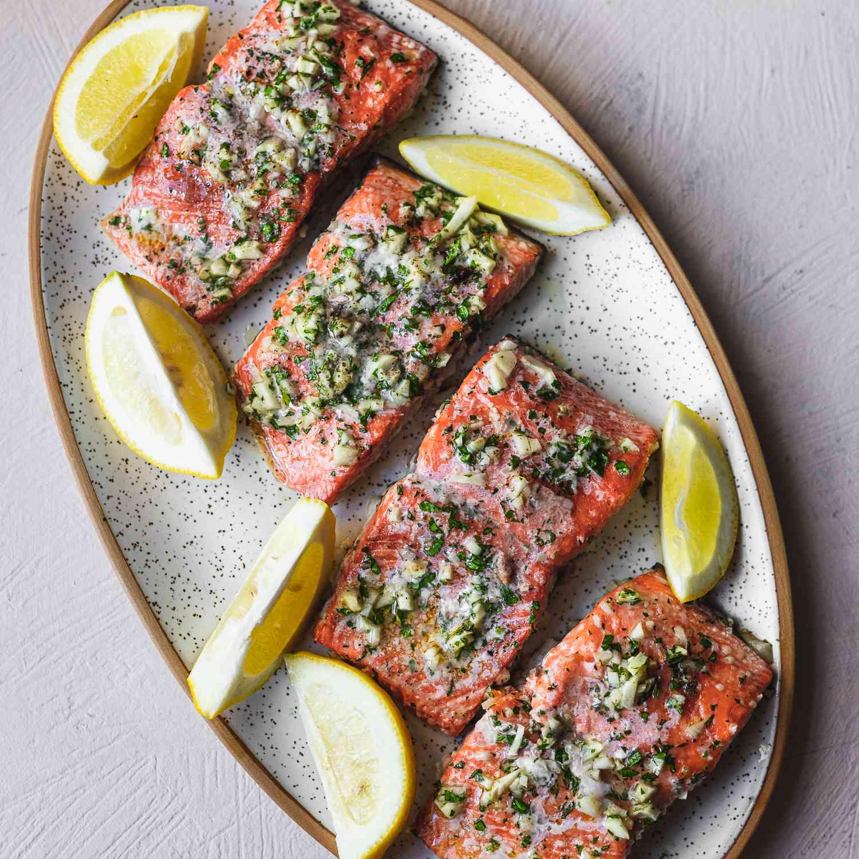Baked Salmon With Garlic Recipe