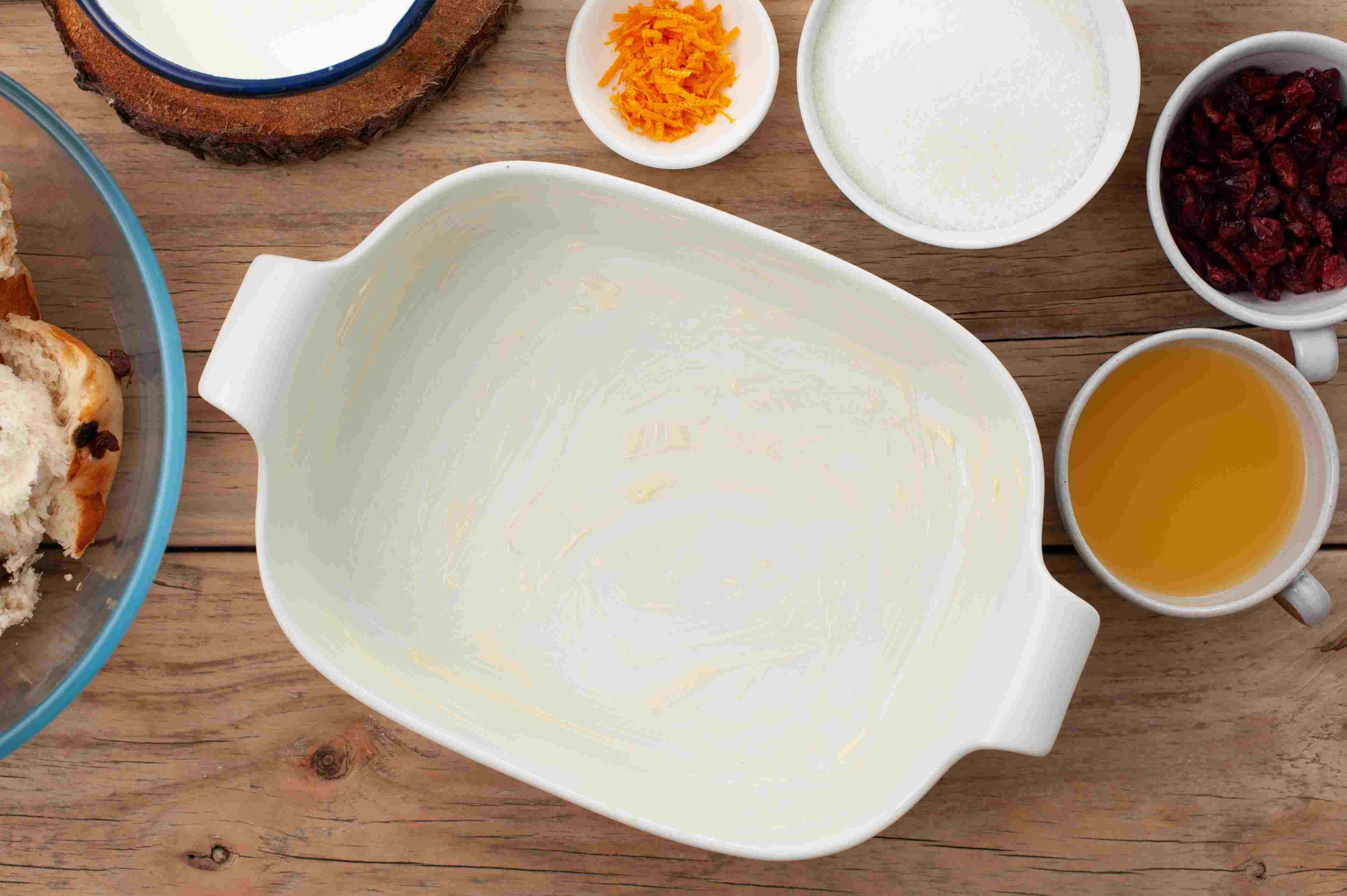 Butter a pan