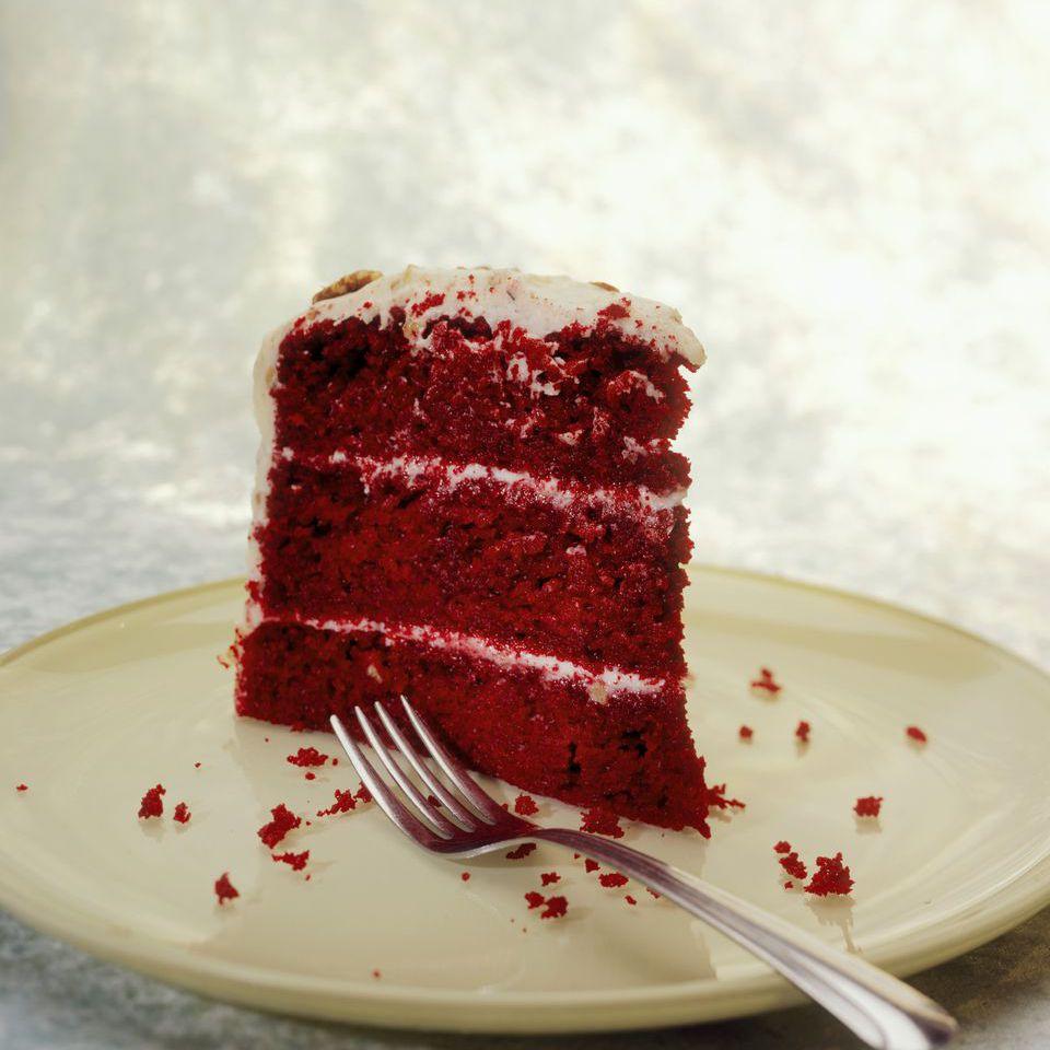 Red Velvet Cake With Custard Frosting