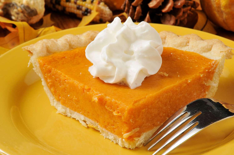 Sweet potato pie, close-up