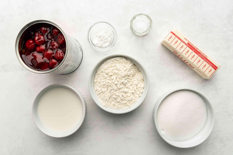 Easy Fruit Cobbler ingredients