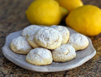lemon butter cookies, snowballs