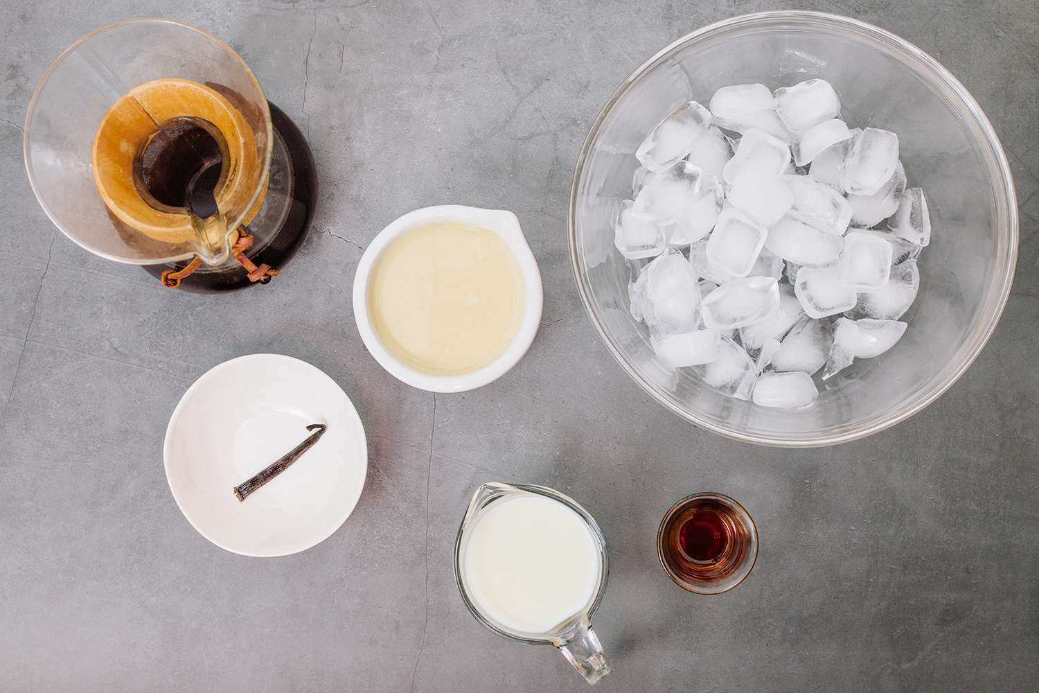 Homemade Frappuccino ingredients