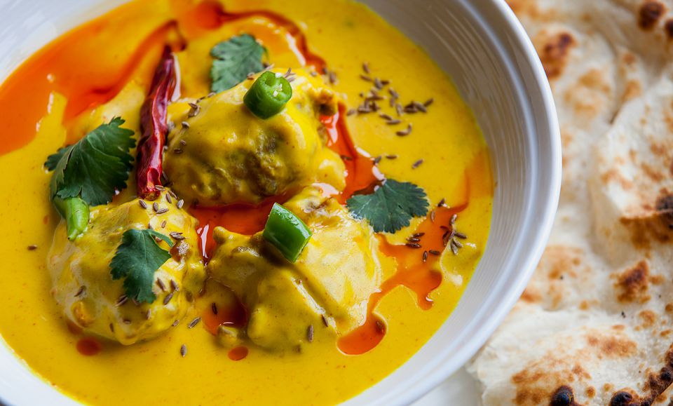 Very famous indian and pakistani dish kadi pakora.