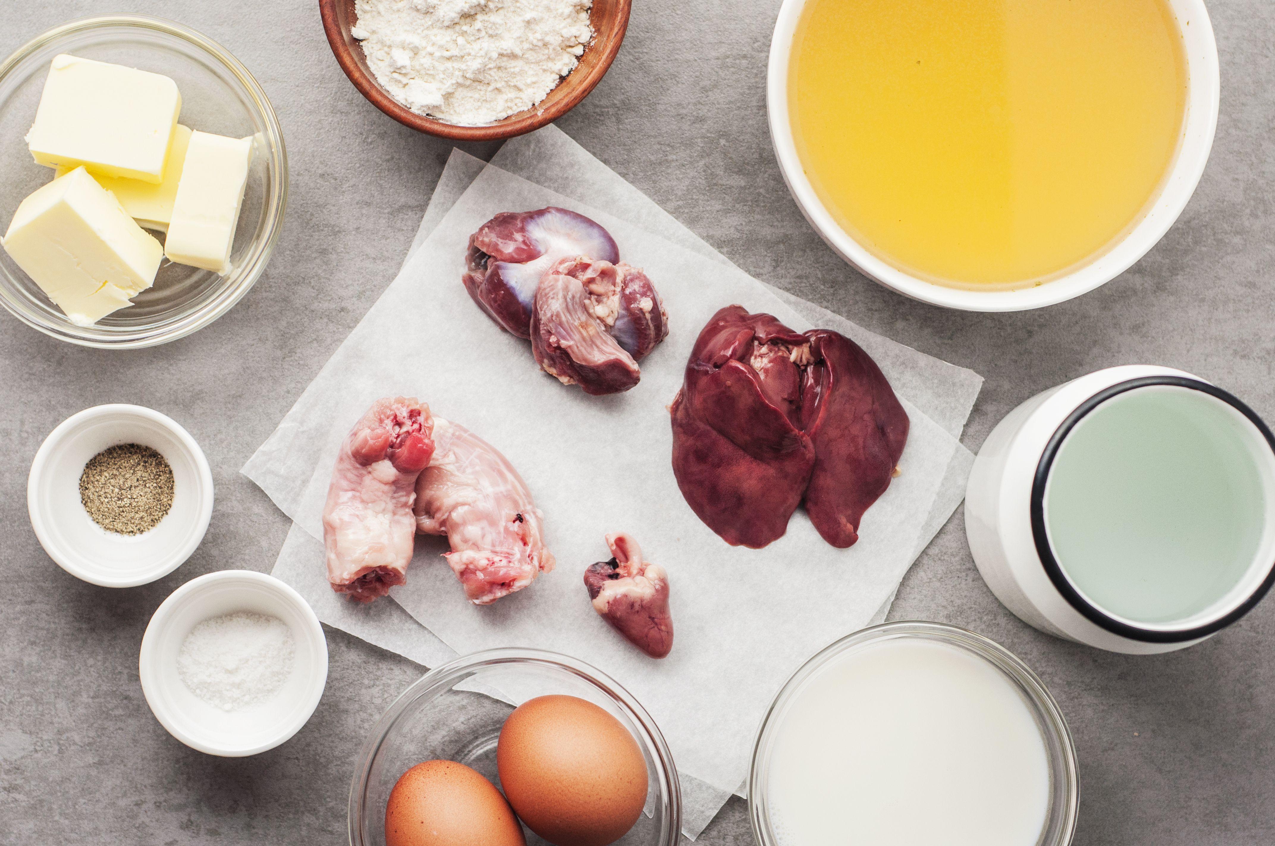 Giblet gravy ingredients