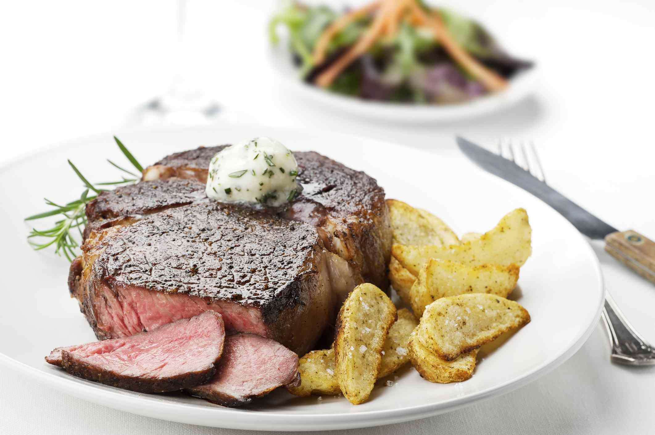 Steak and potato dinner