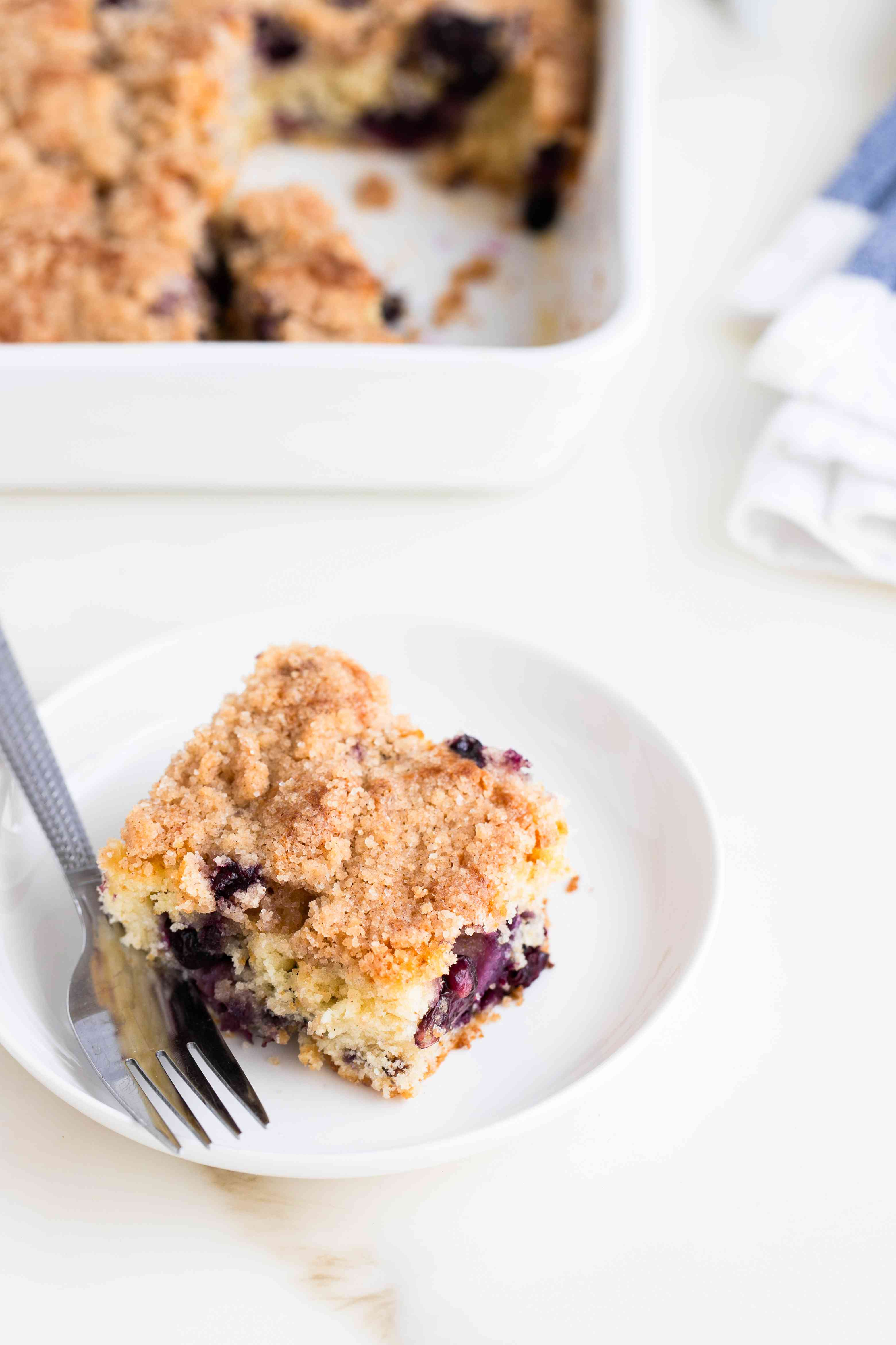 Blueberry Buckle Cake With Cinnamon Spiced Topping recipe