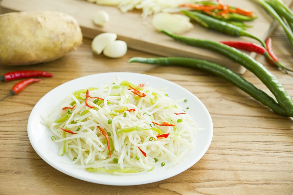 Stir fried shredded potato