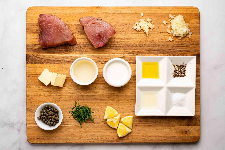 Tuna Steaks With Lemon Cream Sauce ingredients