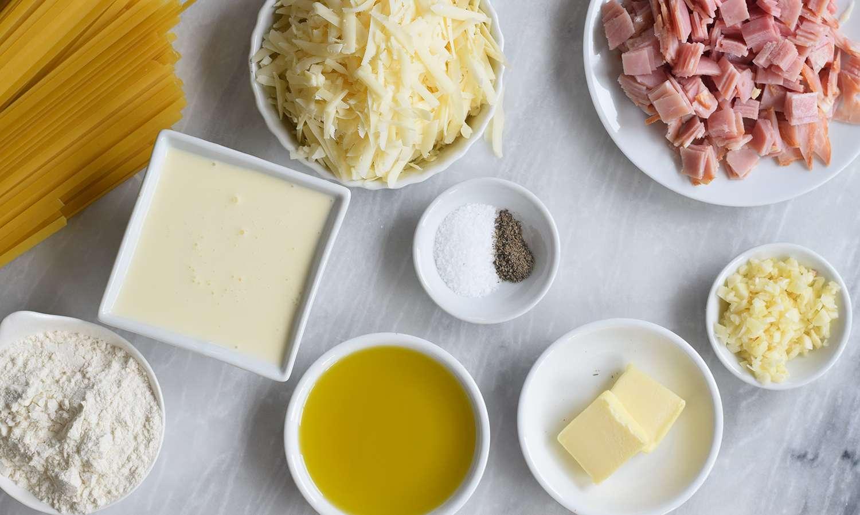 Chicken Cordon Bleu Pasta ingredients for sauce