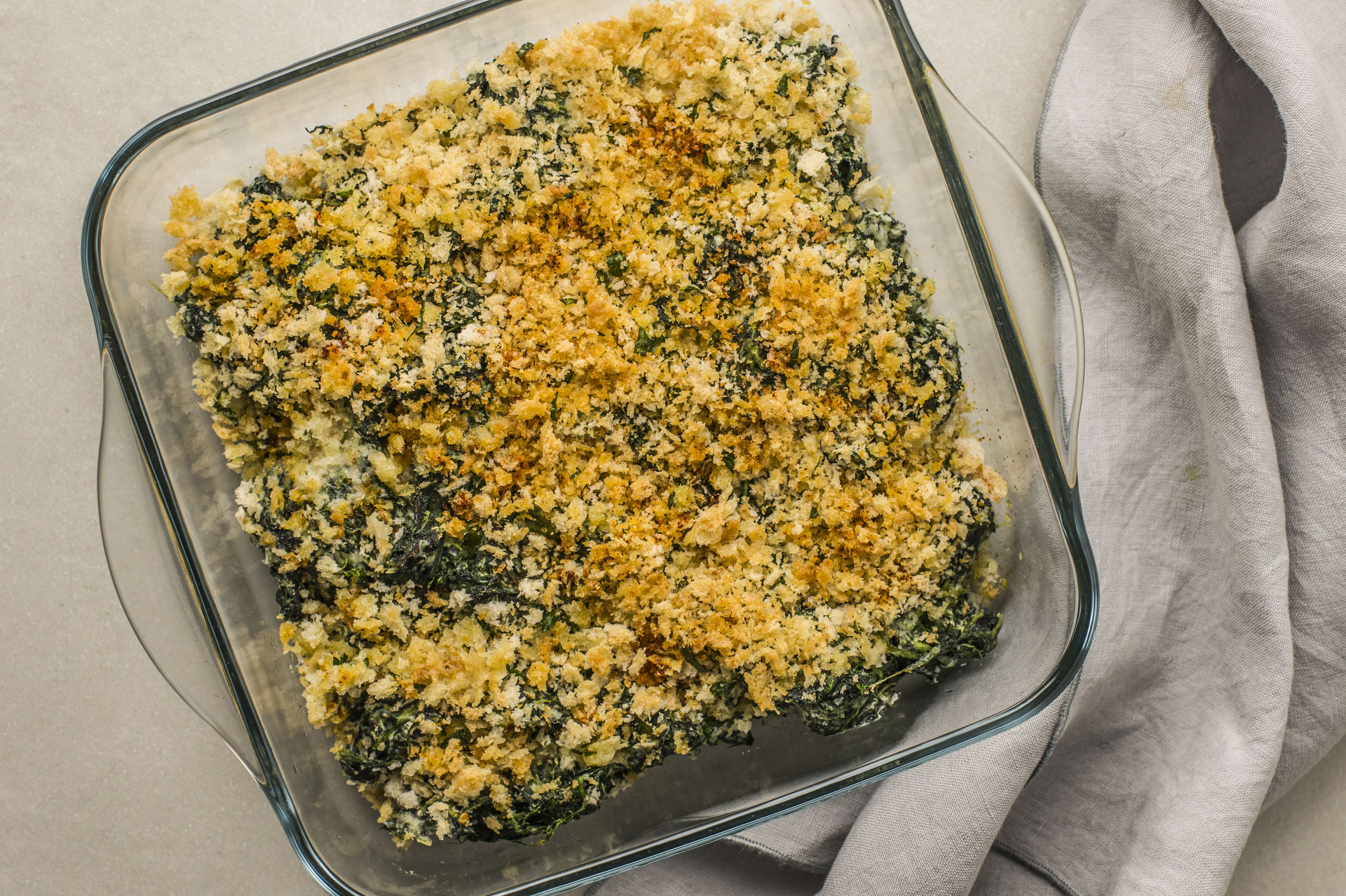 Bake the casserole in preheated oven