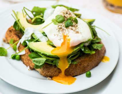 Poached Egg On Toast with avocado
