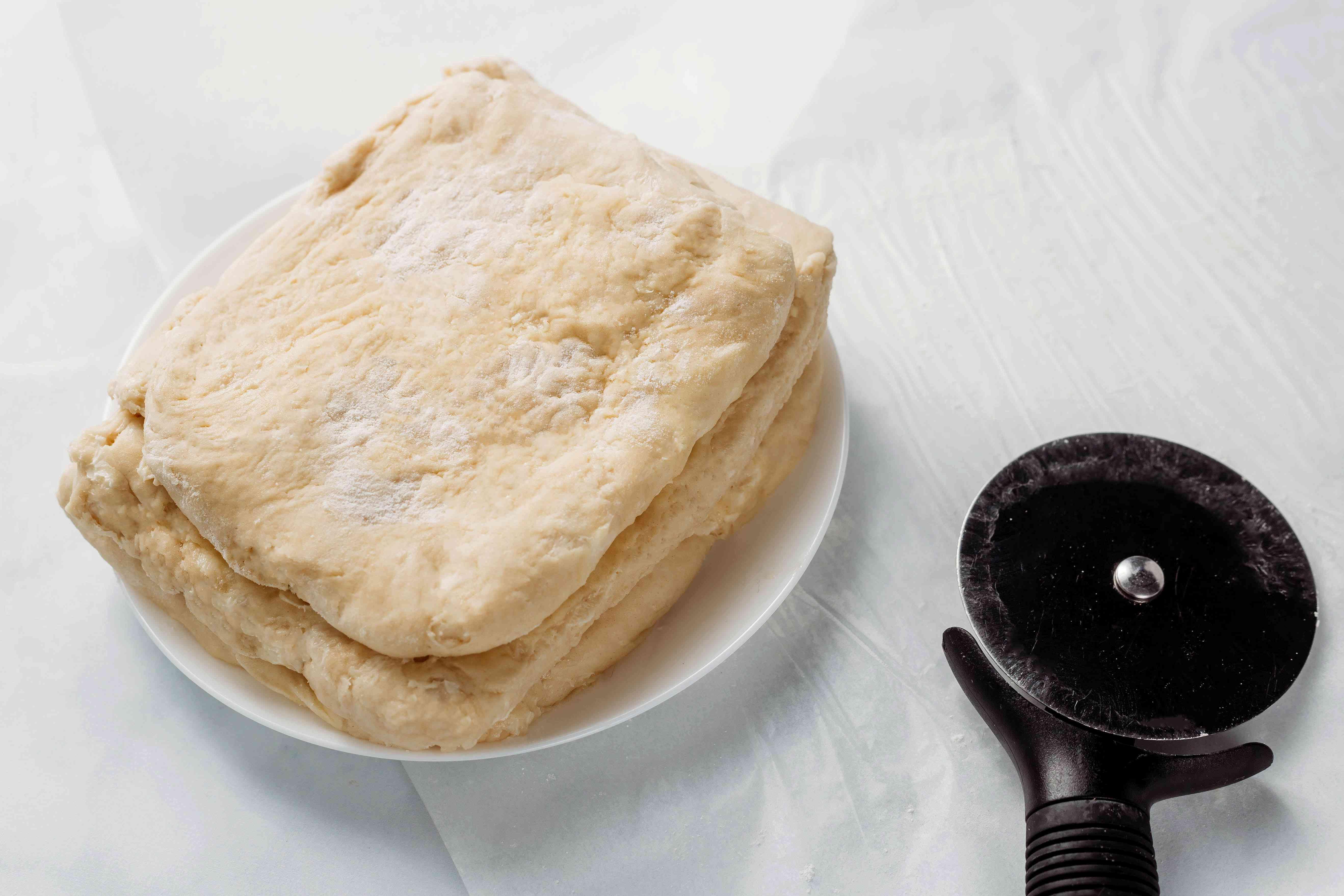 Cronut Dough on a plate
