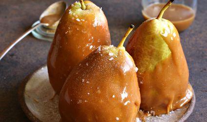 Cardamom Salted Caramel Pears