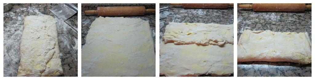 Roll out and Fold the Croissant Dough Again
