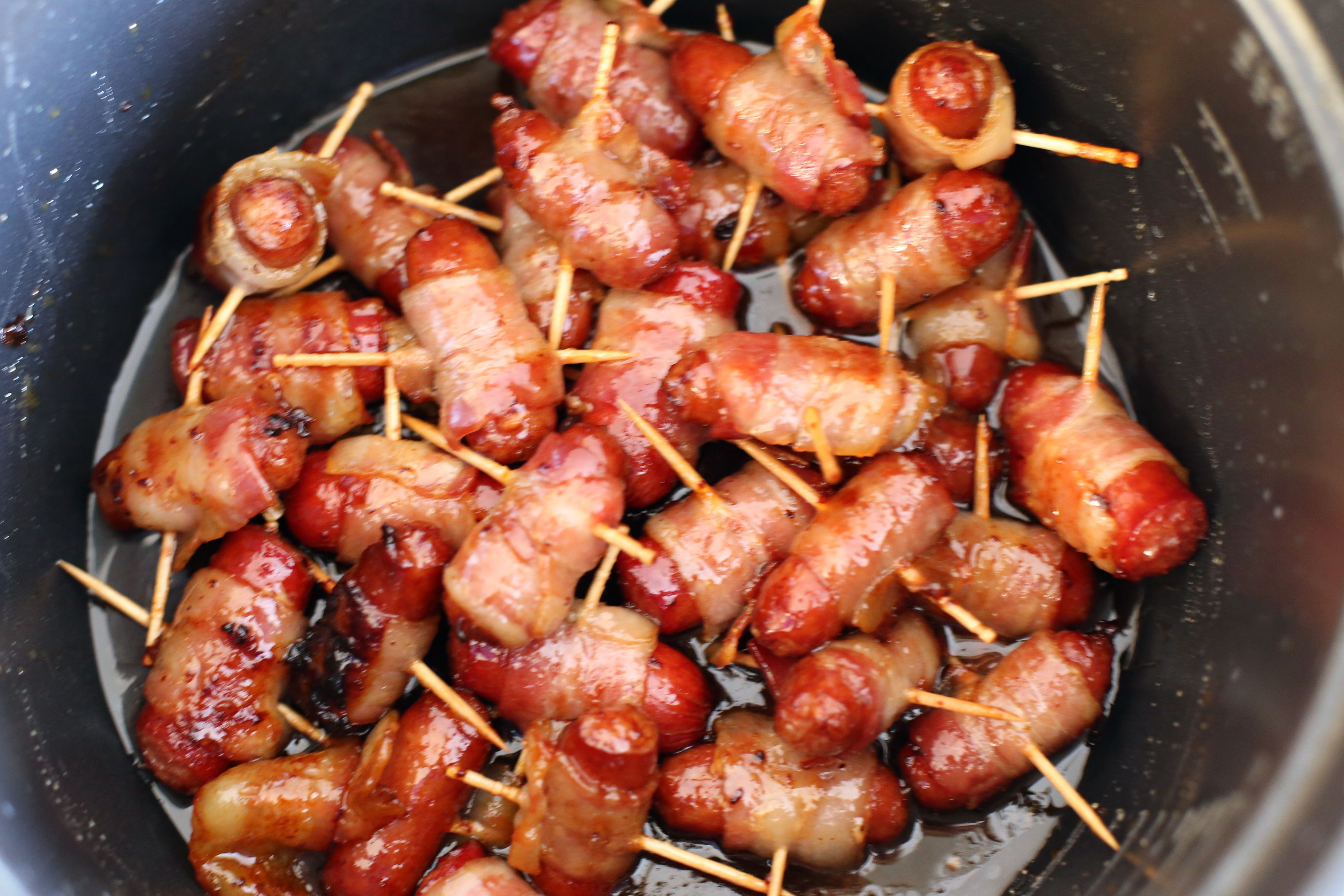 Maple and Brown Sugar Bacon-Wrapped Hot Dogs