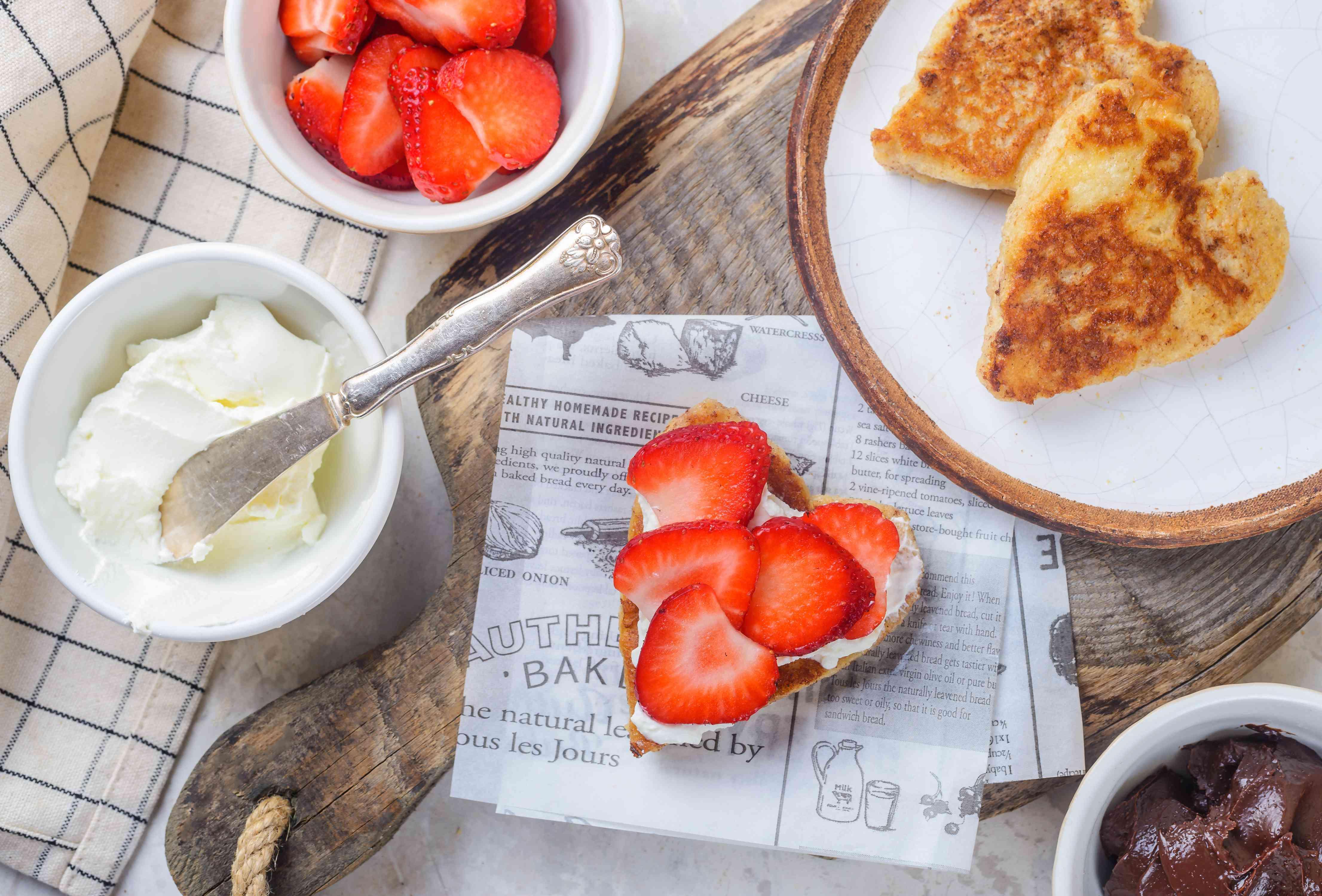 Strawberries on toast