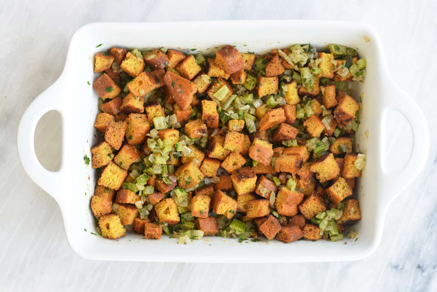 Toss together Keto Stuffing