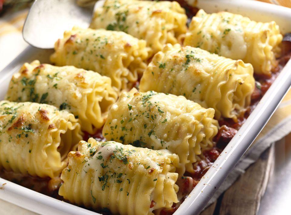 Lasagna Roll-Ups with Pesto