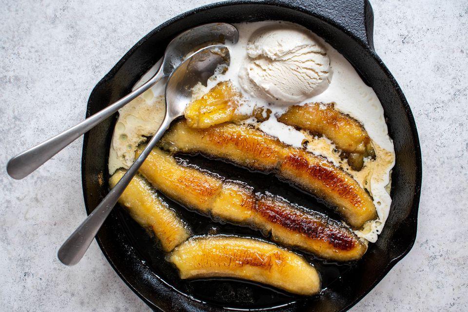 Easy Bananas Flambe
