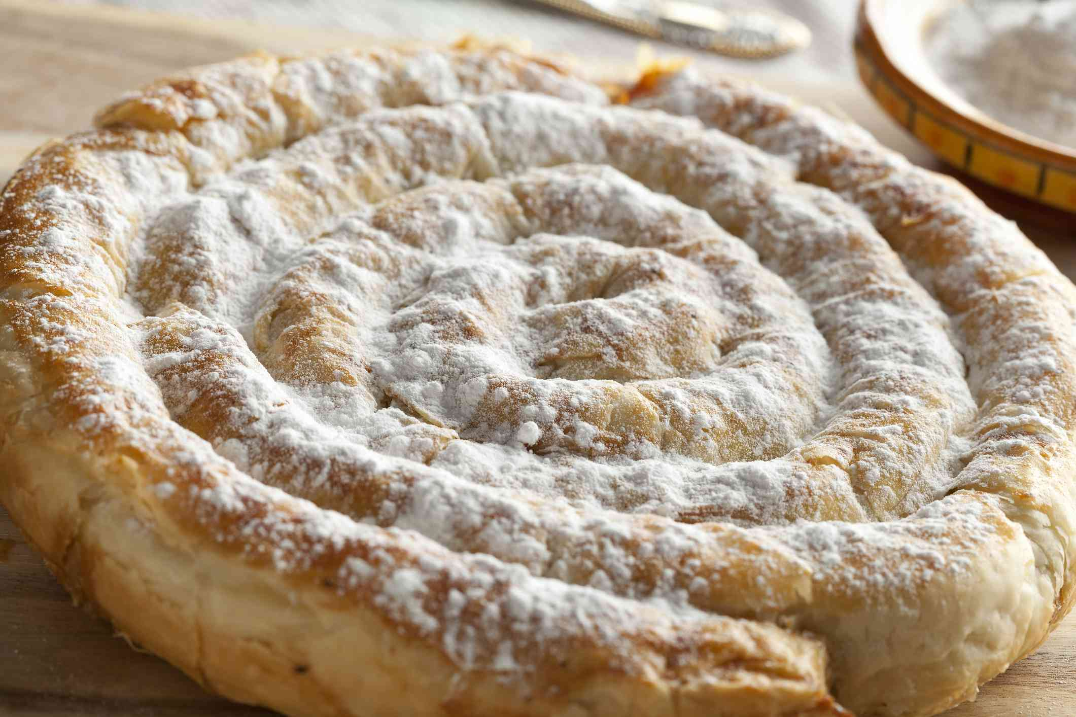 Moroccan almond snake pastry