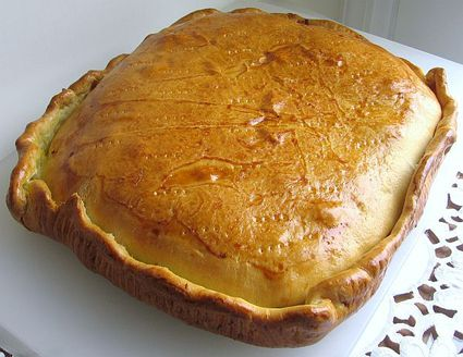 Russian Cabbage Pie or Kulebjaka