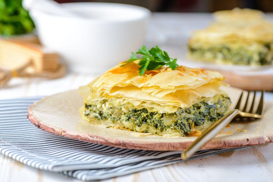 Greek Spinach Pie With Feta Cheese (Spanakopita) Recipe