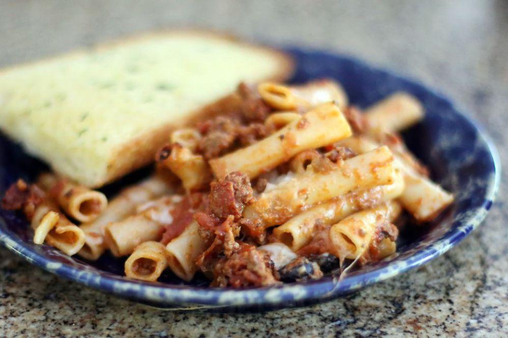 Crock Pot Pizza Pasta Casserole