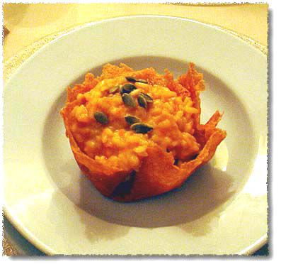 A Cheese Basket, Filled with Risotto