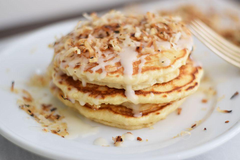 Coconut cream pancakes