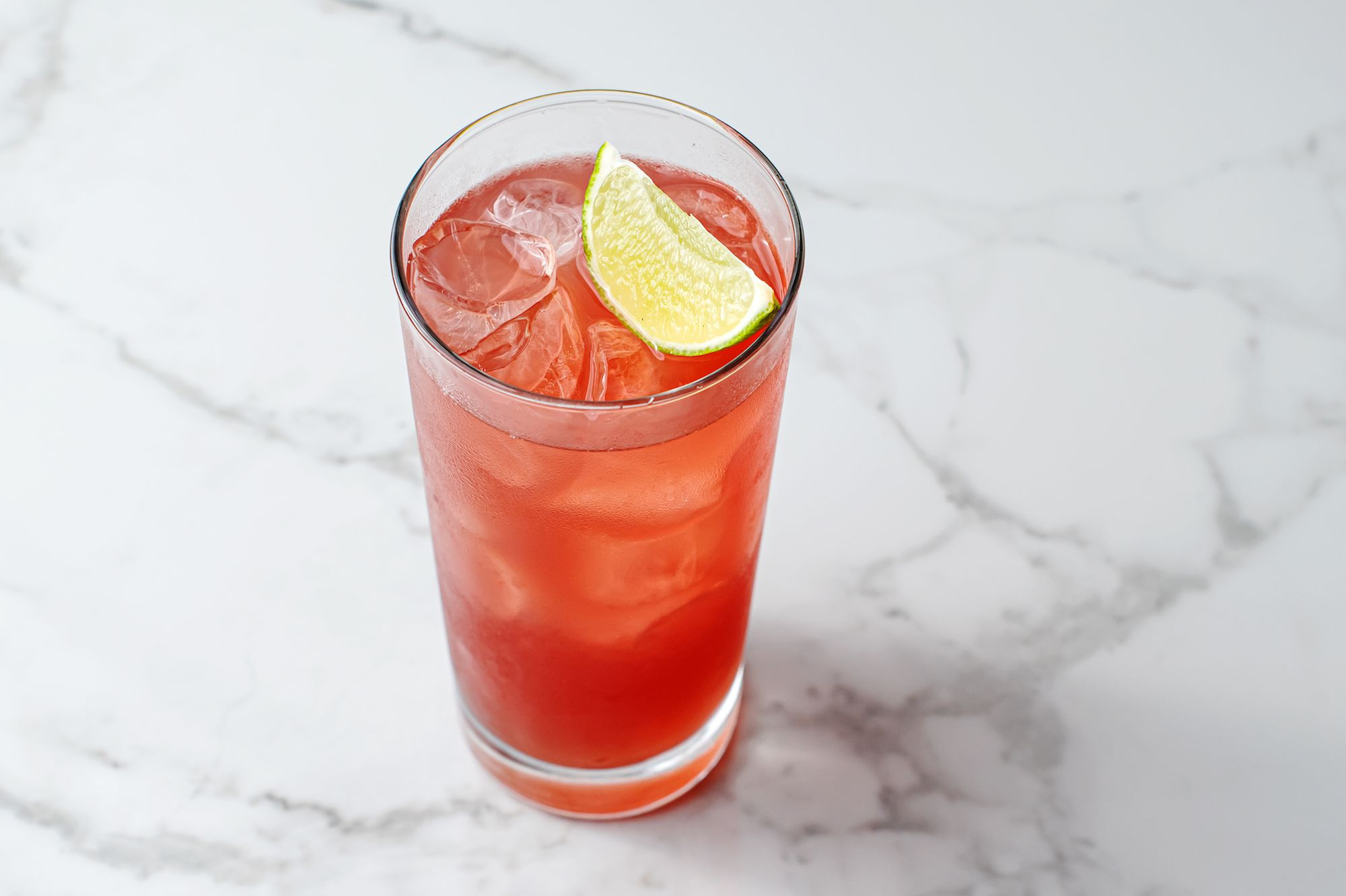 Madras cocktail garnished with a lime wedge