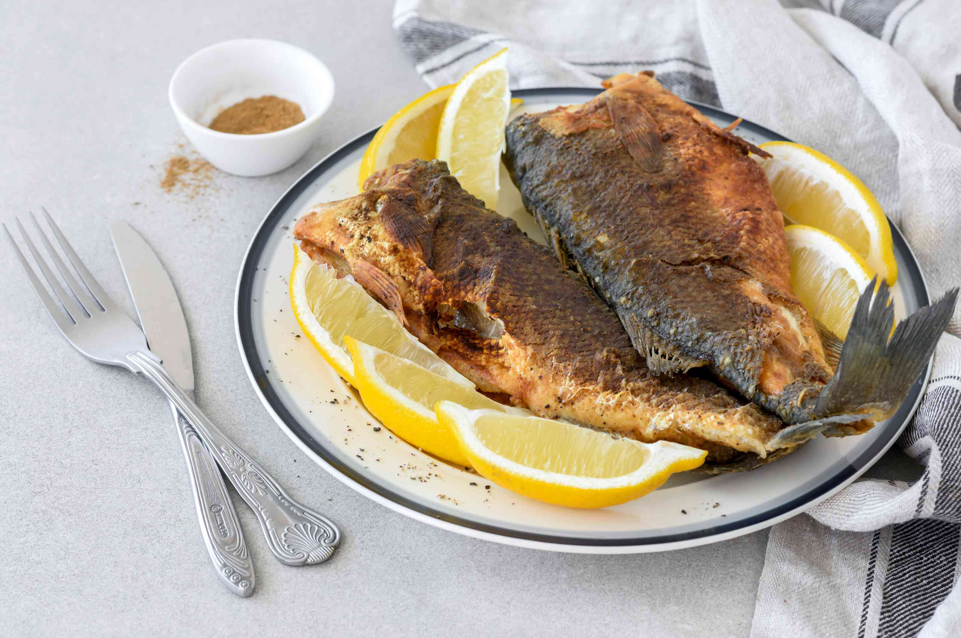 Moroccan fried whiting fish