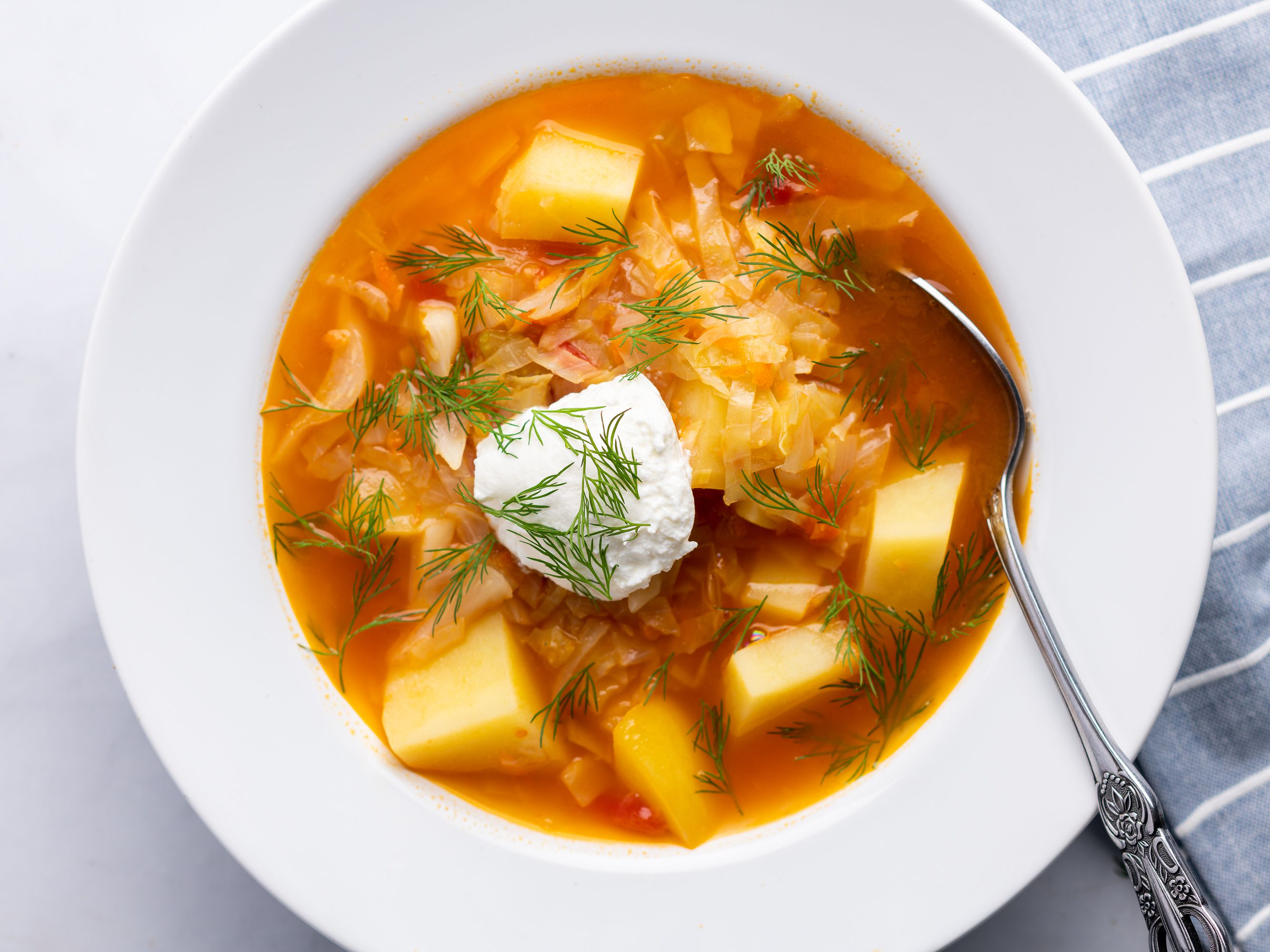 Traditional Russian Cabbage Soup Shchi Recipe