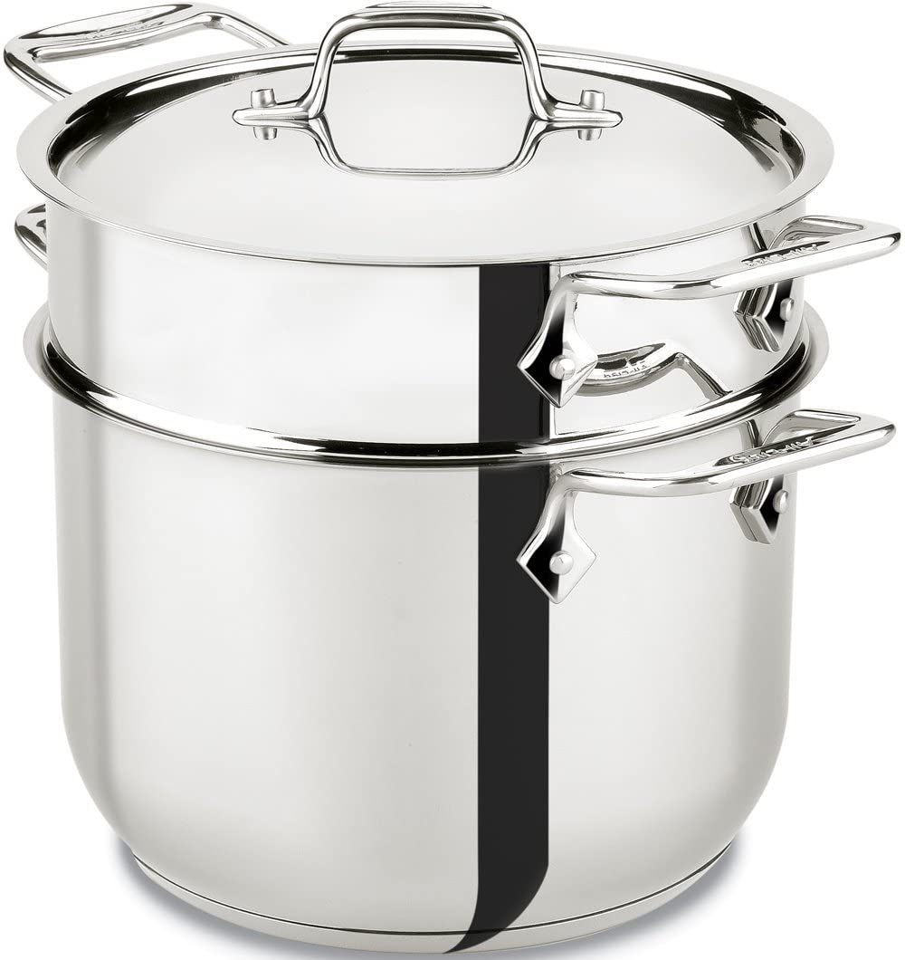 All-Clad 6-Quart Stainless-Steel Pasta Pot and Insert E414S6