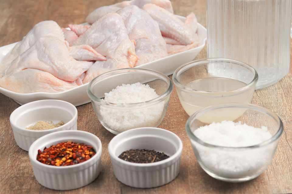 Easy Chicken Wing Brine Recipe ingredients