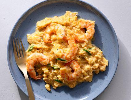 Scrambled Eggs With Shrimp