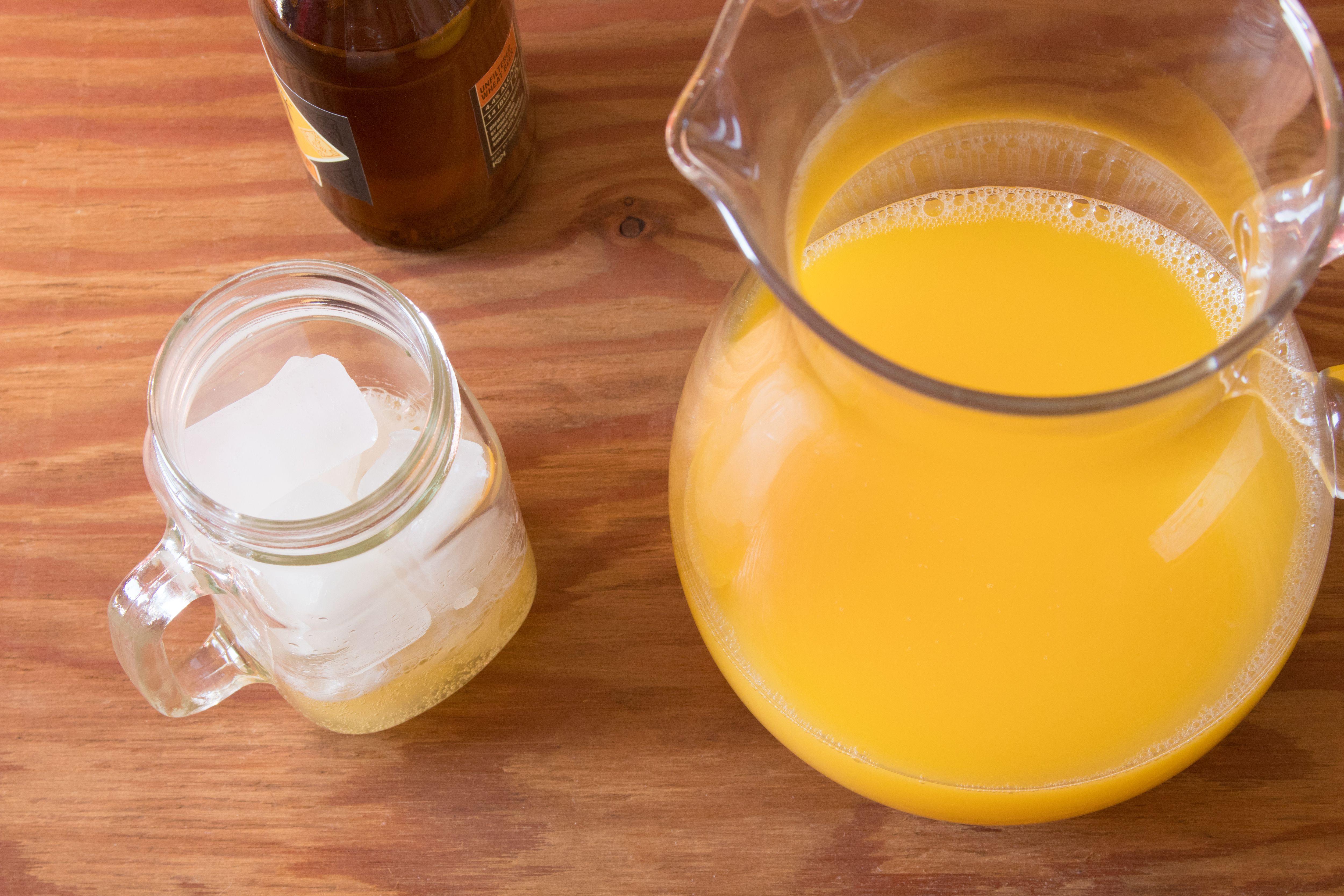 Making a Homemade Orange Shandy