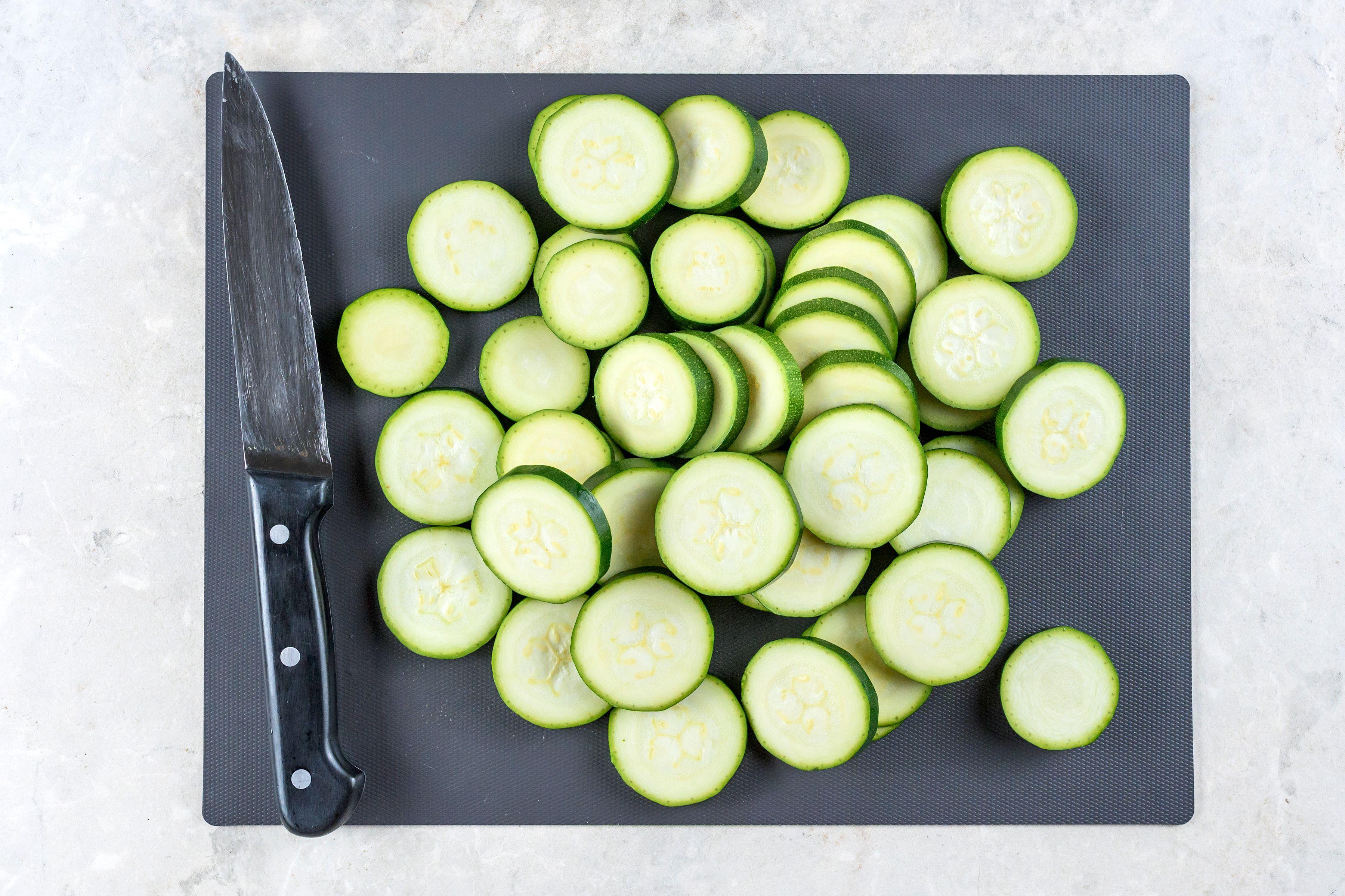 Wash and slice zucchini