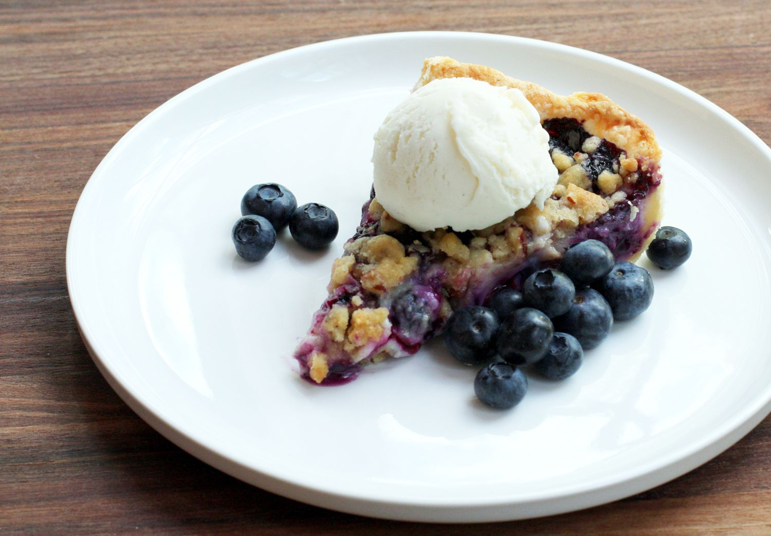 Blueberry Custard Pie Recipe with Streusel Topping