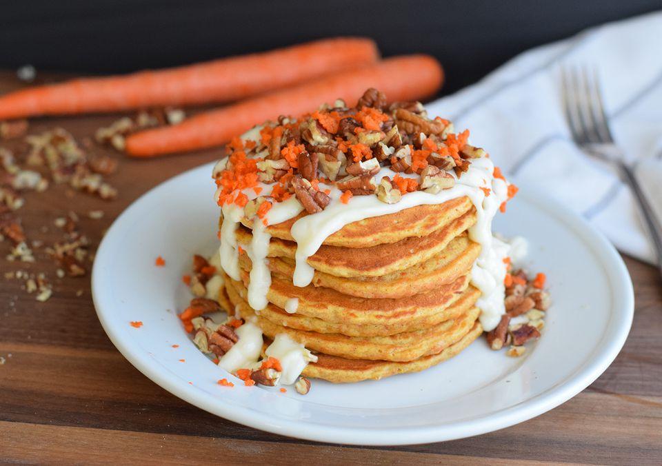Panqueques de pastel de zanahoria