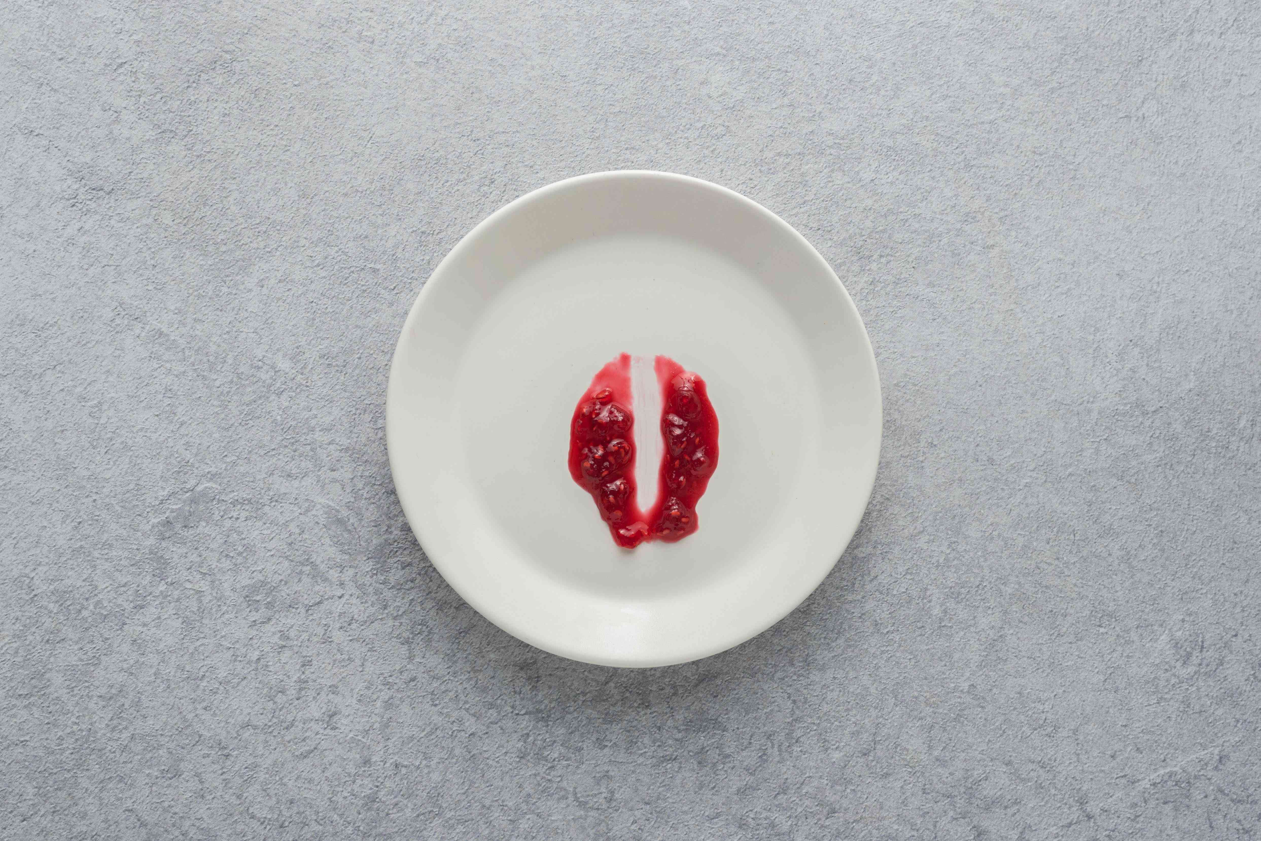 Jam on a chilled plate to test whether it has set