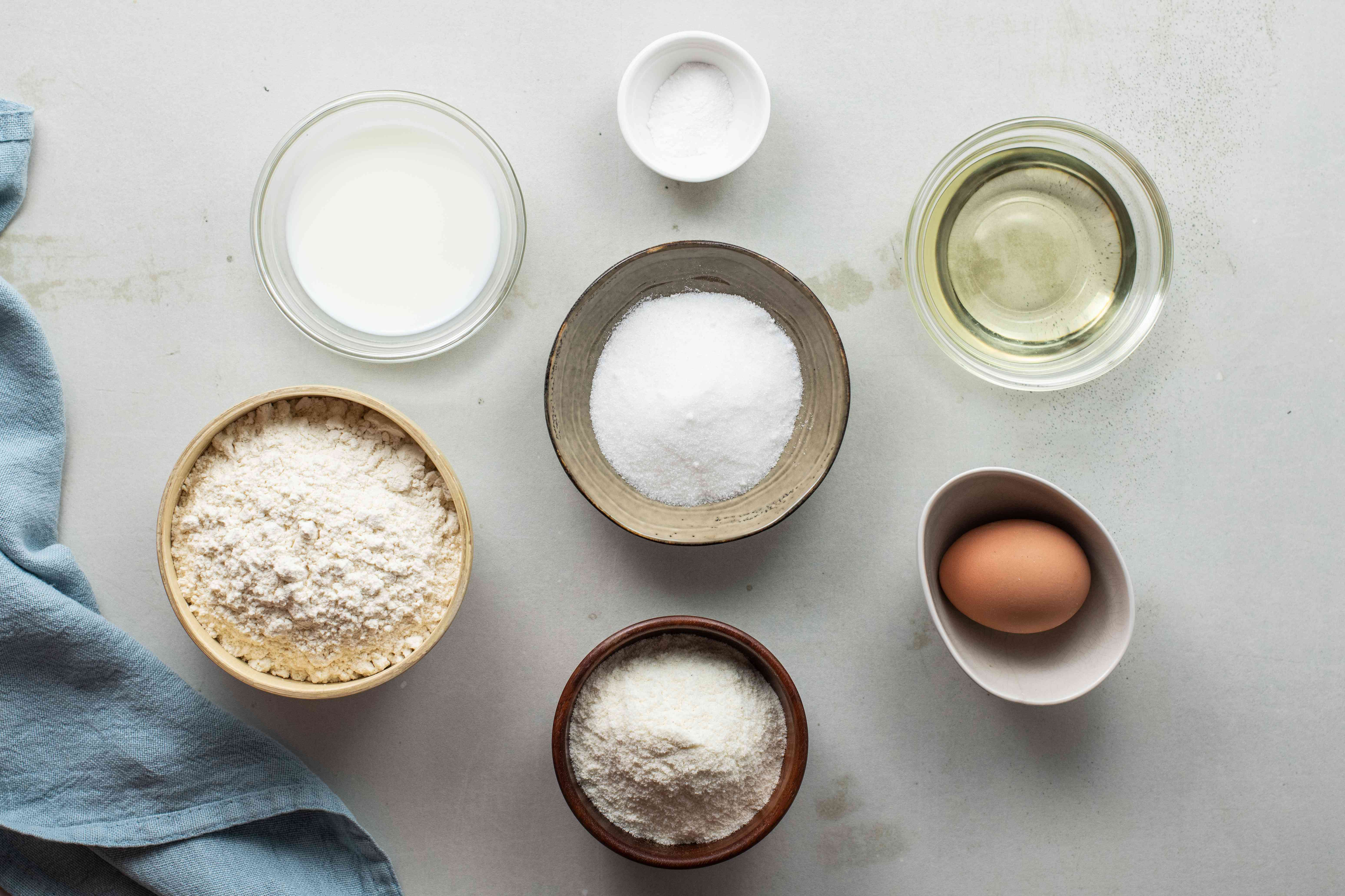 Ingredients for bunuelos