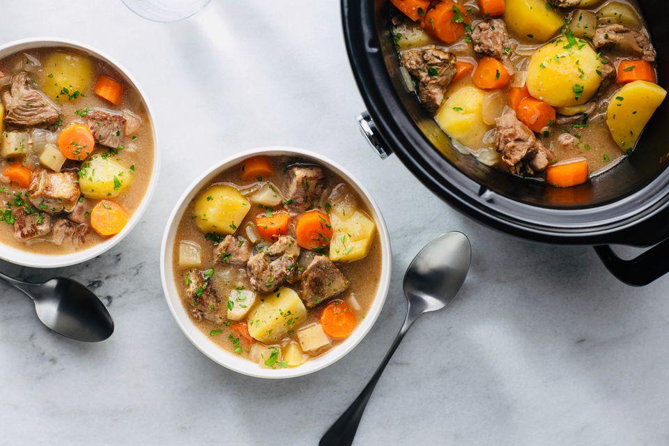 Traditional Slow Cooker Irish Lamb Stew