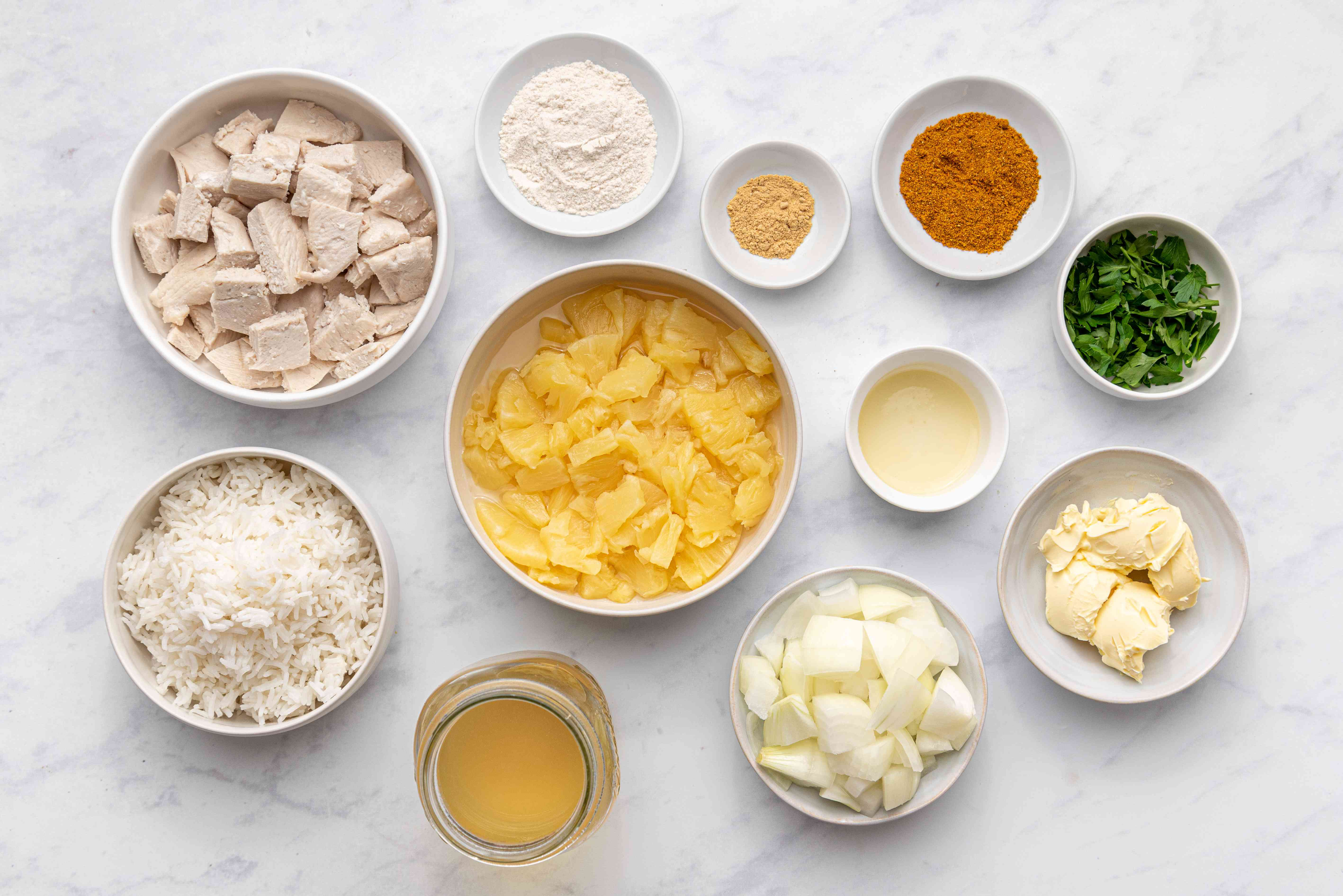Leftover Turkey Curry ingredients