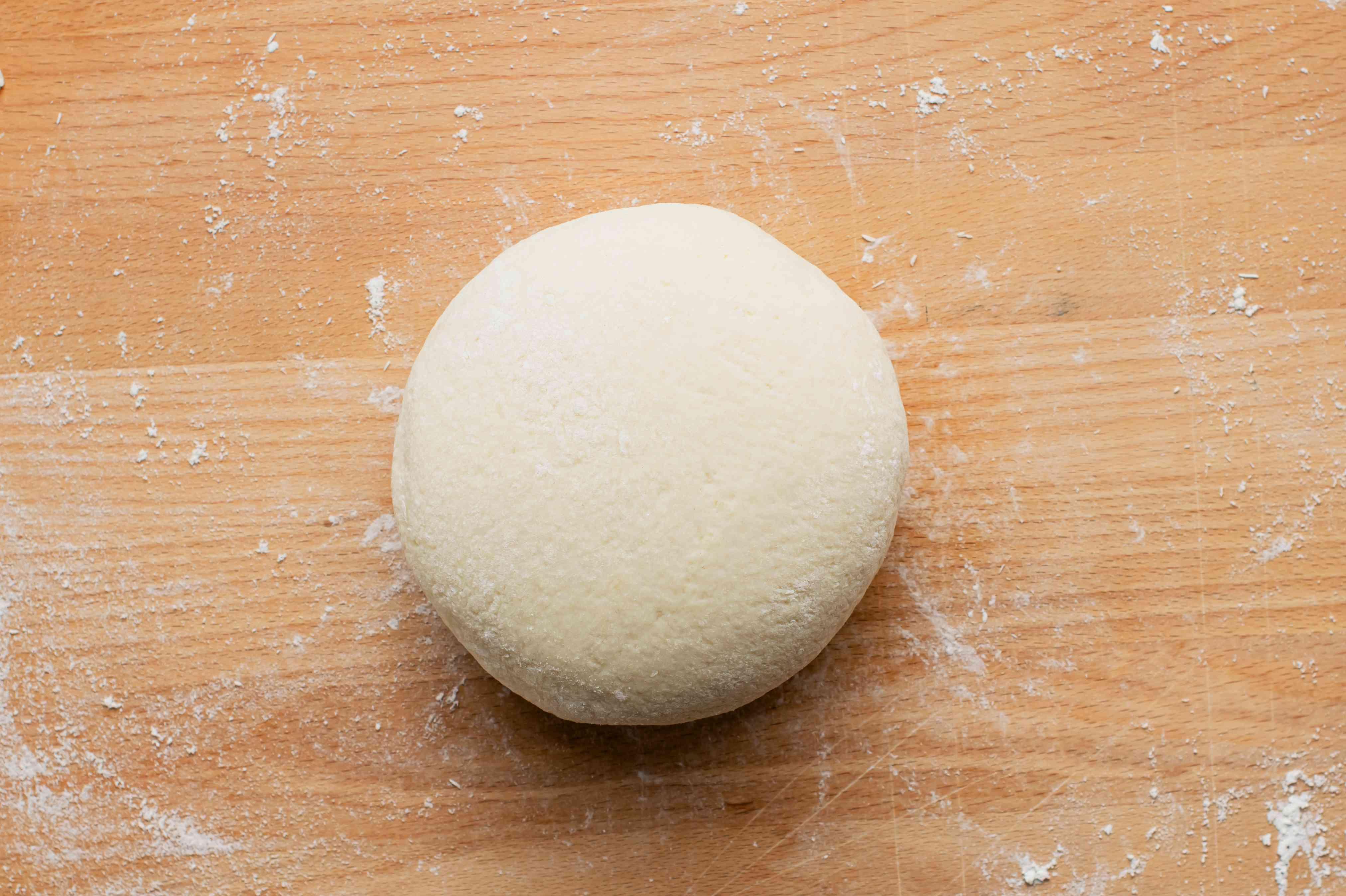 Smooth ball of gnocchi dough