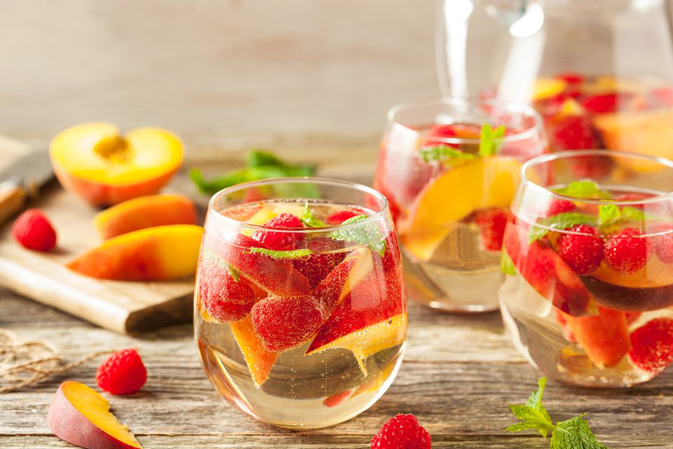 Homemade Sparkling White Wine Sangria