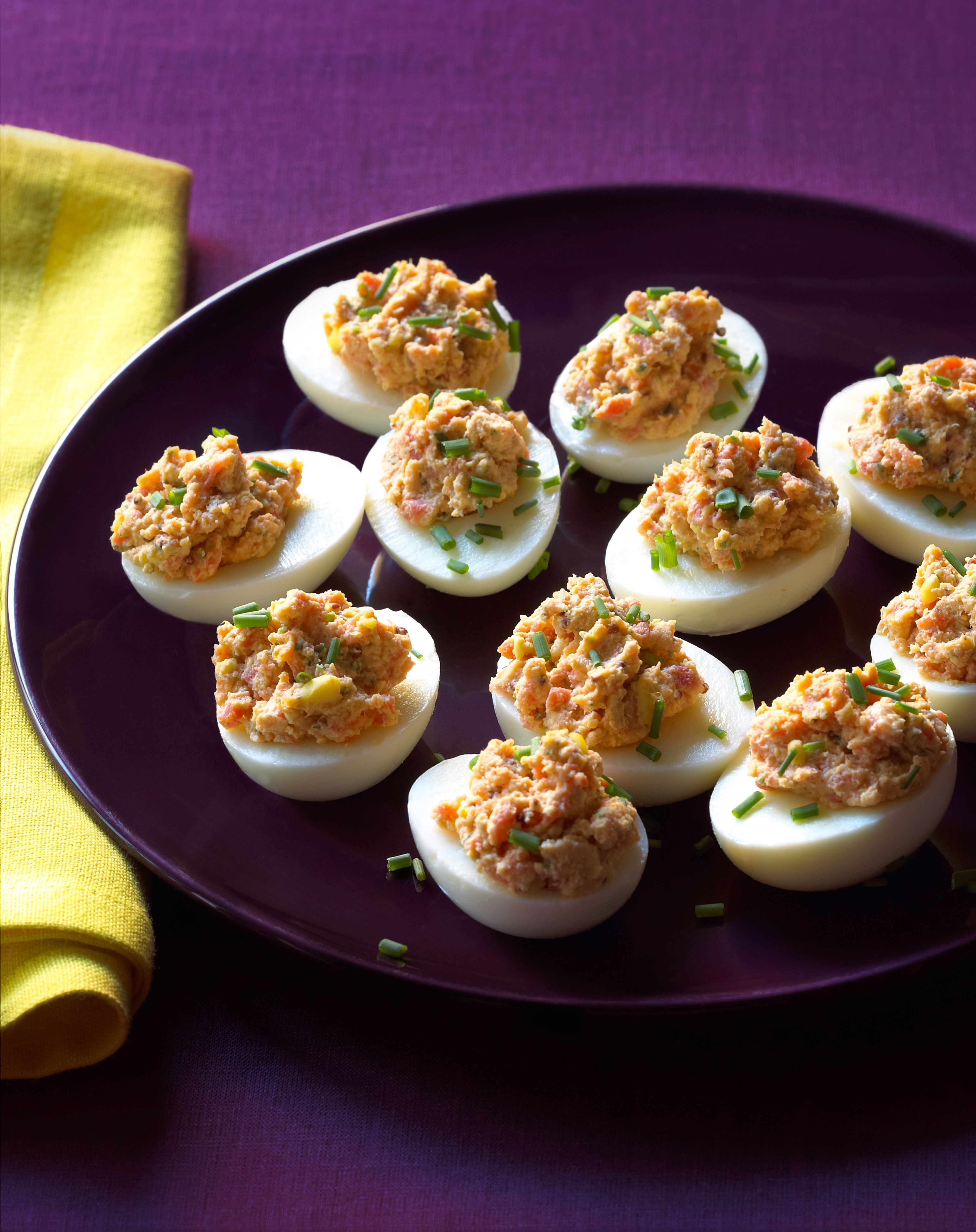 Deviled Eggs Smoked Salmon Appetizers