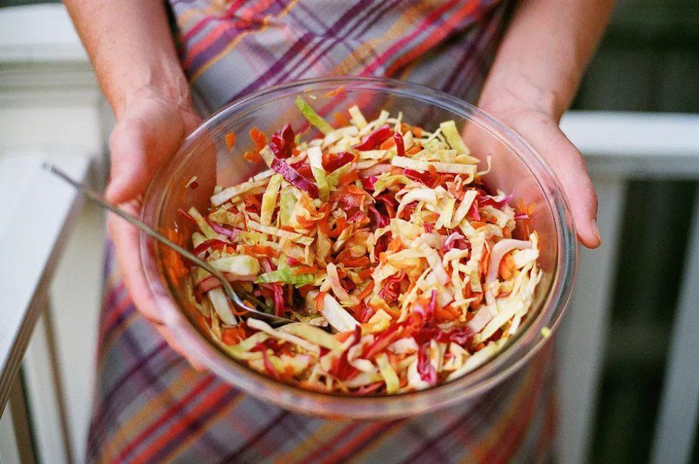 Pickled ginger coleslaw