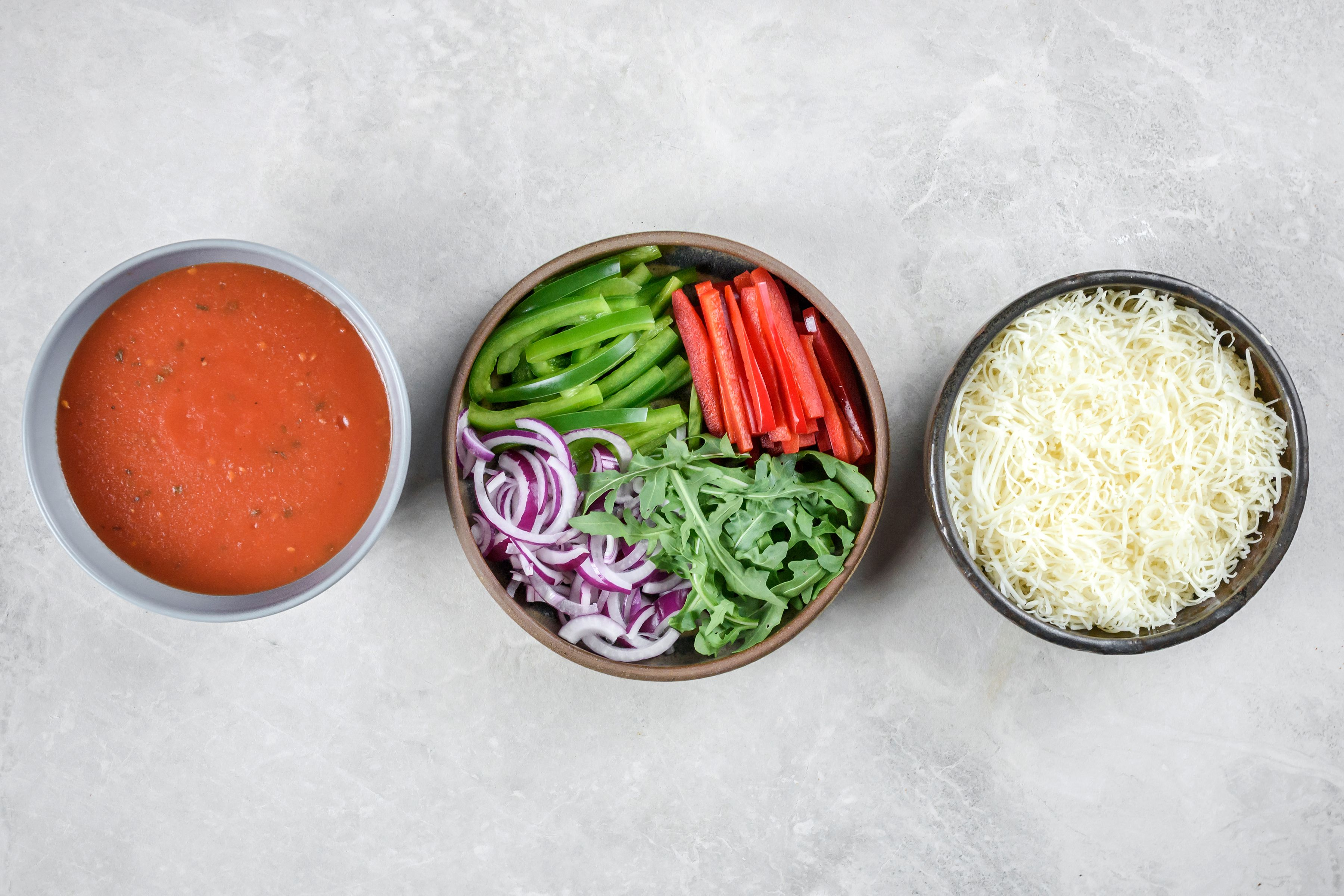 Dairy-Free Gluten-Free Pizza Recipe topping ingredients