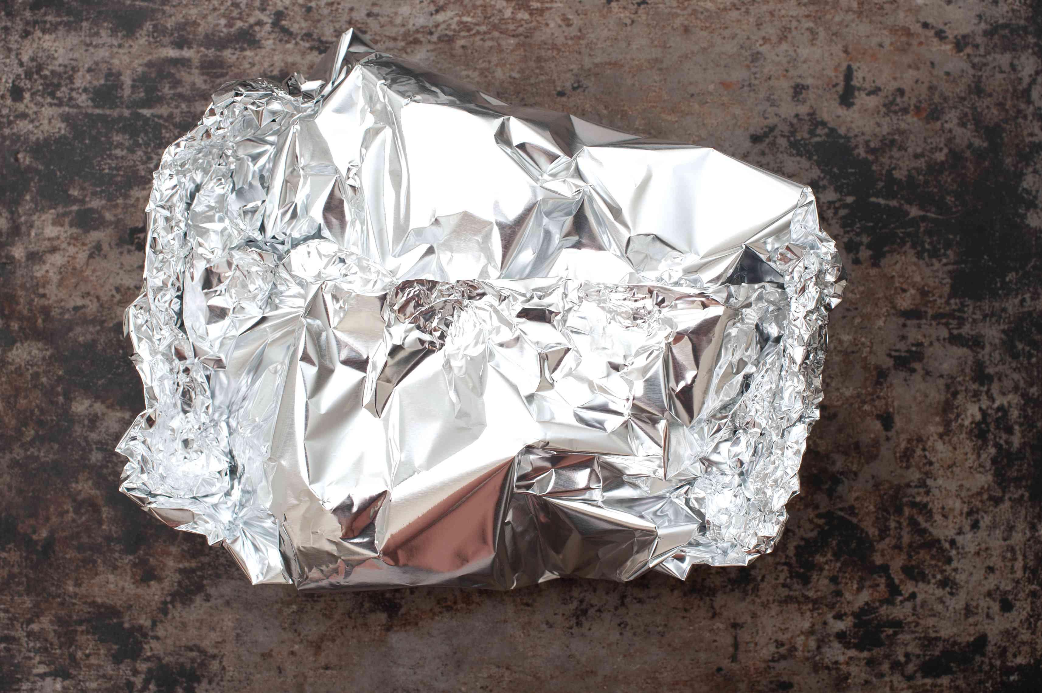 Foil over garlic